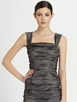 Donna Karan - Crushed Corselette Top
