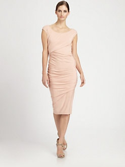 Donna Karan - Cap-Sleeve Drape Dress