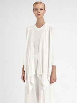 Donna Karan - Three-Quarter Sleeve Cardigan