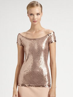 Donna Karan - Sequined Top