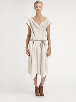 Donna Karan - Drape-Front Dress
