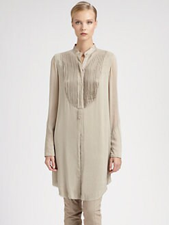 Donna Karan - Silk Tuxedo Tunic