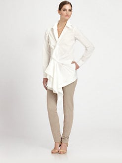 Donna Karan - Paper Cotton Draped Tunic