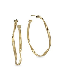 Marco Bicego - 18K Gold Twisted Hoop Earrings