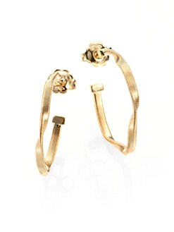Marco Bicego - 18K Yellow Gold Twist Hoop Earrings/2