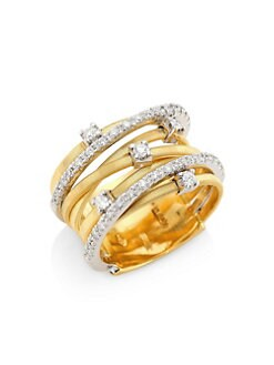 Marco Bicego - Diamond & 18k Gold Multi-Row Ring