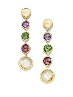 Marco Bicego - Mixed Semi-Precious Stone & 18K Yellow Gold Earrings