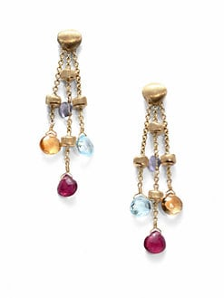 Marco Bicego - Semi-Precious Multi-Stone & 18K Gold Drop Earrings