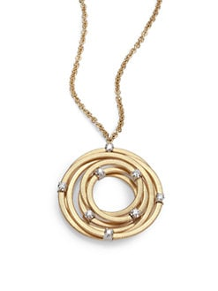 Marco Bicego - 18K Gold & Diamond Pendant Necklace