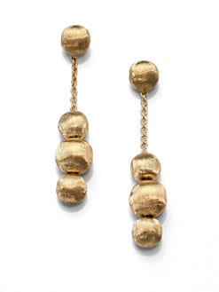 Marco Bicego - 18K Gold Beaded Drop Earrings