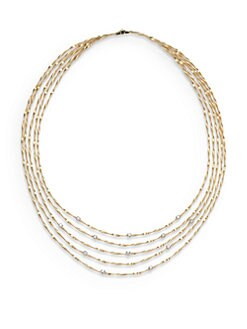 Marco Bicego - 18K Gold & Diamond Multi-Chain Necklace