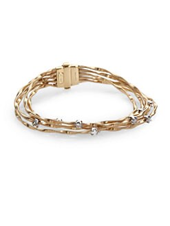 Marco Bicego - Diamond & 18K Gold Multi-Chain Bracelet