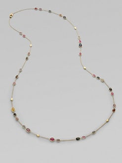 Marco Bicego - 18K Gold Multi-Color Sapphire Station Necklace/Long