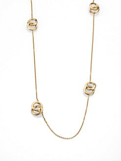 Marco Bicego - 18K Gold Engraved Circle Station Necklace