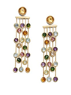 Marco Bicego - Semi-Precious Multi-Stone Multi-Strand 18K Gold Earrings