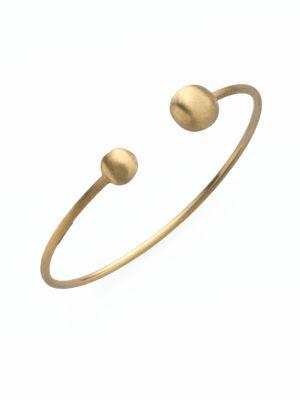Africa 18K Yellow Gold Ball Cuff Bracelet
