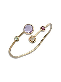 Marco Bicego - Semi-Precious Multi-Stone & 18K Gold Overlapping Bracelet