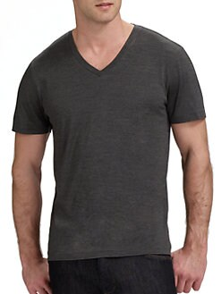 Theory - V-Neck Melange Tee