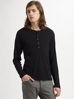 Theory - Ribbed Henley Sweater