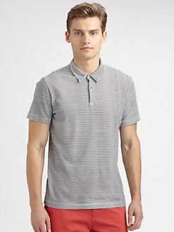Theory - Striped Cotton Polo