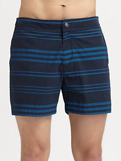 Theory - Striped Swim Trunks
