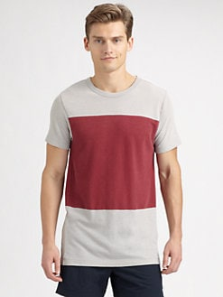 Theory - Colorblock Crewneck Tee