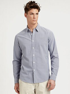 Theory - Striped Cotton Sportshirt