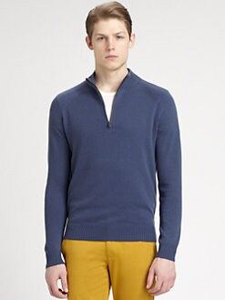 Theory - Lorenz Half-Zip Cashmere Sweater