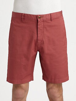 Theory - Zaine Stretch Cotton Shorts