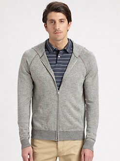 Theory - Hooded Zip Sweater