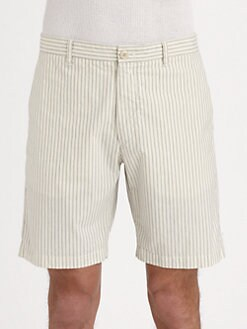 Theory - Striped Cotton Shorts