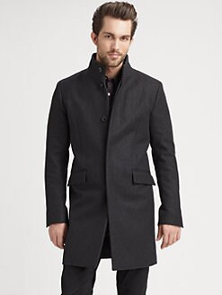 Theory - Melton Long Jacket