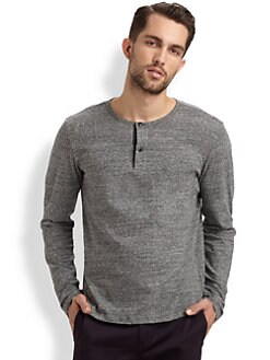 Theory - Charcoal Melange Henley