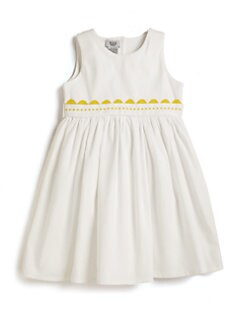 Noa Lily - Personalized Toddler & Little Girl's Dress/Yellow Trim