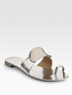 Giuseppe Zanotti - Metallic Toe-Ring Sandals