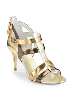 Giuseppe Zanotti - Metallic Leather Sandals