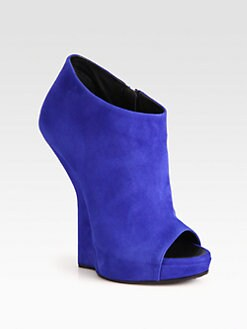 Giuseppe Zanotti - Suede Sculpted Wedge Ankle Boots