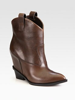 Giuseppe Zanotti - Leather Wedge Cowboy Boots