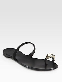Giuseppe Zanotti - Suede Toe Ring-Detail Sandals