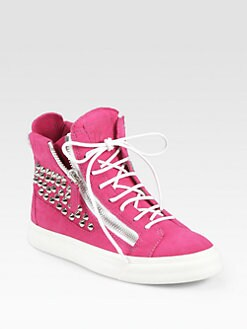 Giuseppe Zanotti - Studded Suede Wedge Sneakers
