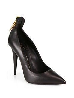 Giuseppe Zanotti - Leather Zipper-Trimmed Pumps
