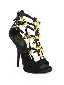 Giuseppe Zanotti - Star-Embellished Suede Sandals