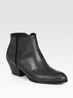 Giuseppe Zanotti - Snake-Embossed Leather Ankle boots
