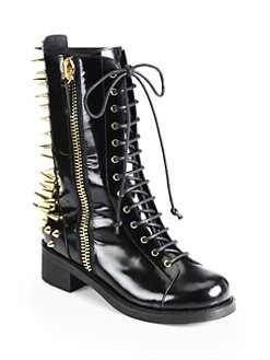 Giuseppe Zanotti - Studded Leather Combat Boots