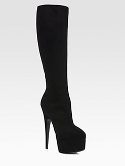 Giuseppe Zanotti - Suede Knee-High Platform Boots