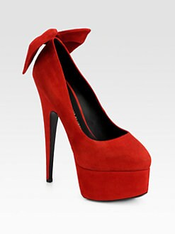 Giuseppe Zanotti - Suede Bow Platform Pumps