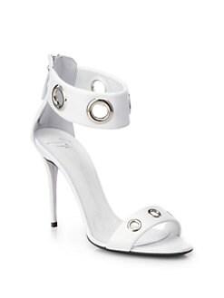 Giuseppe Zanotti - Leather Grommet Ankle-Strap Sandals