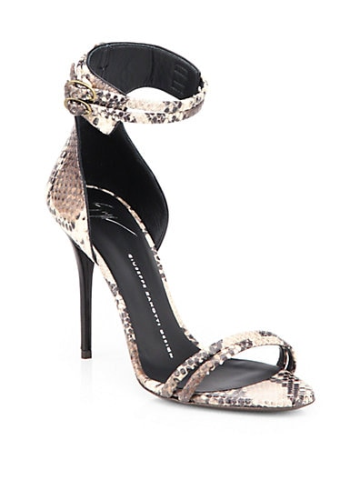 Python Ankle-Strap Sandals