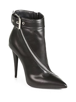 Giuseppe Zanotti - Asymmetrical-Zip Leather Ankle Boots