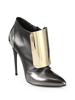 Giuseppe Zanotti - Tricolor Leather Metal Ankle Boots